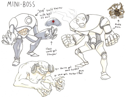 3 states of evil mini bosses