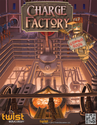 "Promotional poster for Twist Education's ""Charge Factory"""