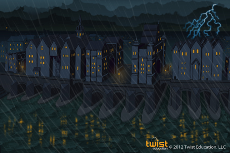 "London Bridge Concept art from Twist Education's ""Twisted Physics: Episode 1"""