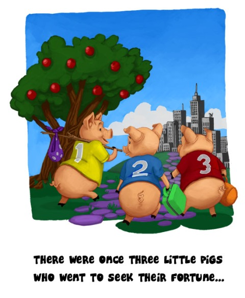 Three Little Pigs - Moving
