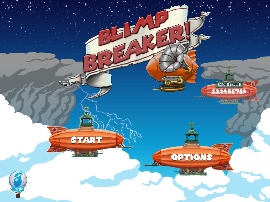Blimp Breaker - Start Screen