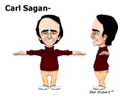 Orthogonal T-Pose for Carl Sagan Rig