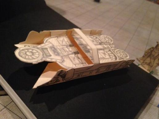 I made a tiny table-top version of the vehicle for use in combat.