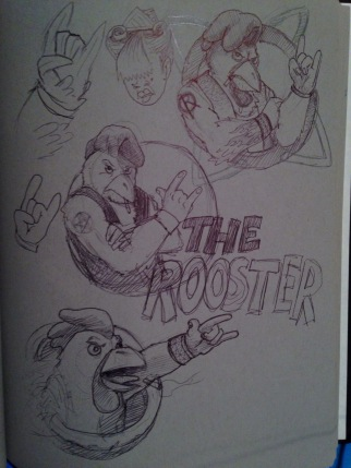 Rooster Sketchin'